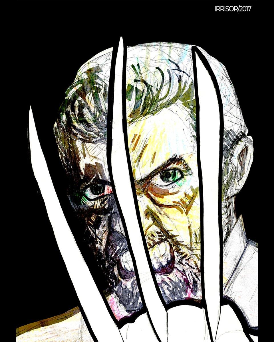 LOGAN  #irrisor #reshoots #hirrisor #Wolverine #lobezno #HughJackman #logan #xmen #man #Avengers #disney #beard #oldmanlogan #jamesmangold #MarvelComics #art #arte #artistic #illustrator #illustration #pictink #conceptart #comics #fanart #dibujo #paint #drawing #dccomics #marvel