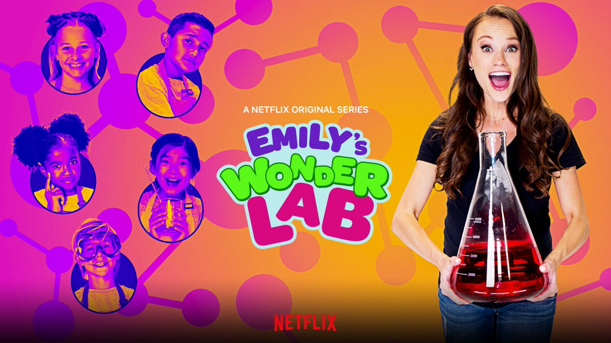 Emily's positivity and passion for breaking science down in a fun, and simple way is sure to blow you away.  With fun activities for the whole family, #EmilysWonderLab is now streaming on @netflix! https://t.co/Gjo8oLotMM