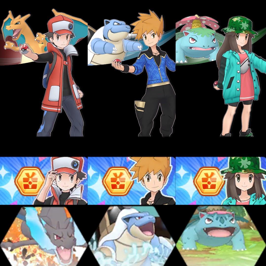 Rojo Azul Hoja Pokémon Masters