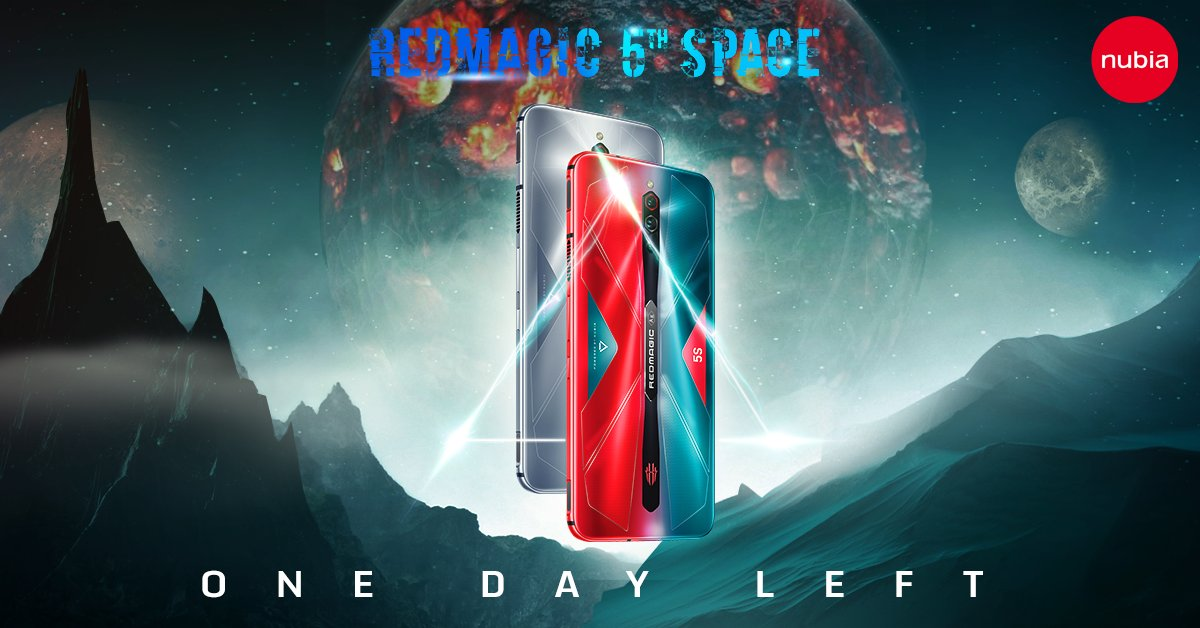 There's only one day left for the RedMagic: 5th Space event! Be sure you have 60 or more entries to your name so you can have a chance at winning one of the 4 RedMagic 5S phones up for grabs! Enter here to take part: https://t.co/zhBxUXOUGG https://t.co/bs6vZxMNpR