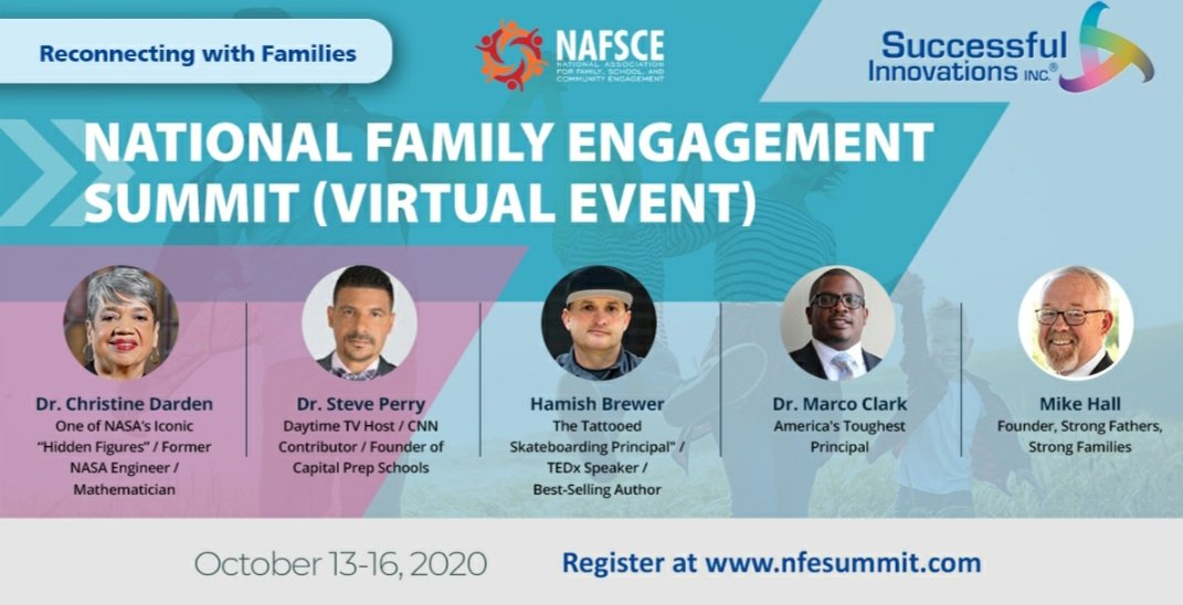 flyer for National Family Engagement Summit hosted by Successful Innovations and the National Association for Family, School, and Community Engagement