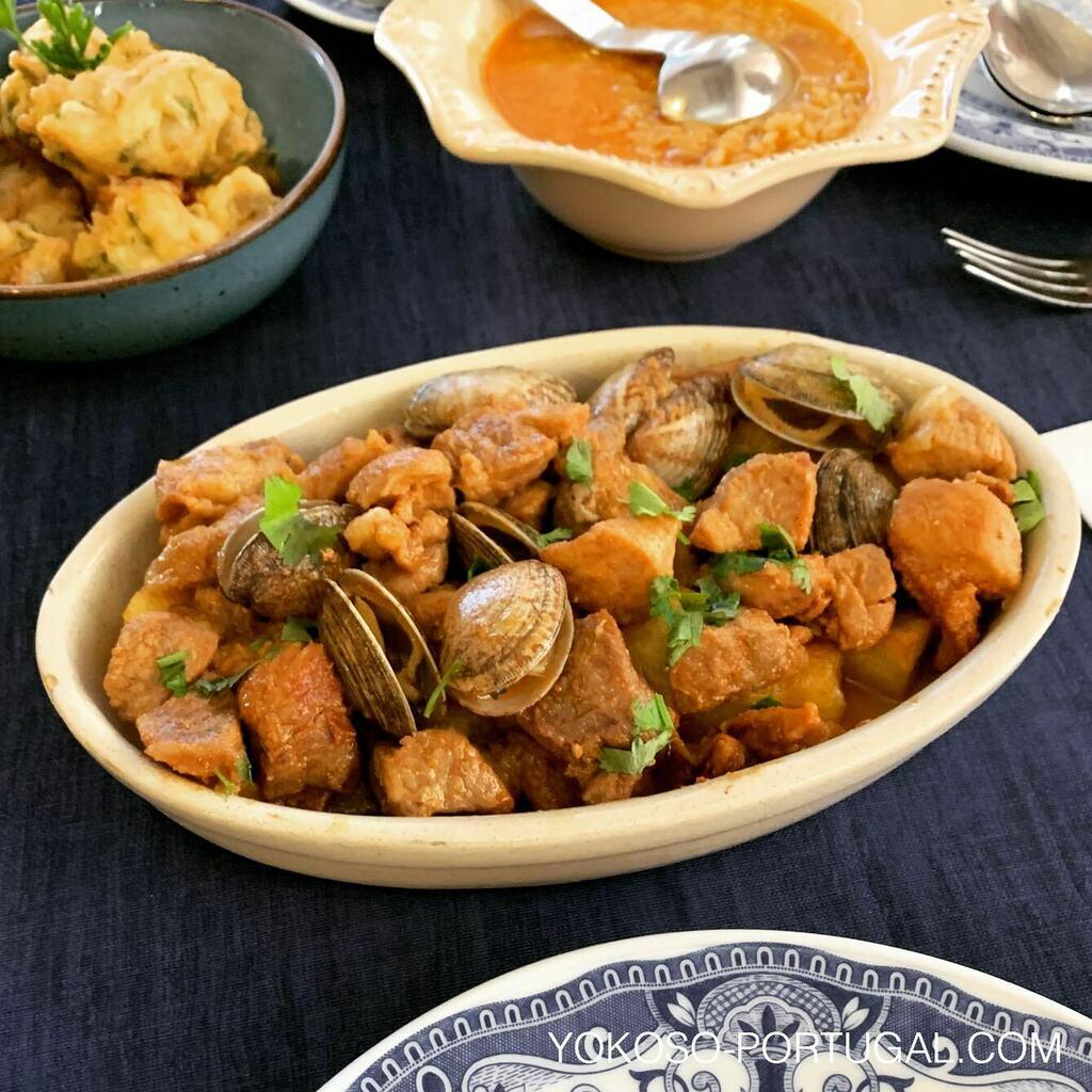 test ツイッターメディア - 豚肉とアサリの不思議なマリアージュ、Carne de Porco à Alentejana。 #ポルトガル料理 https://t.co/bF579ynZWt