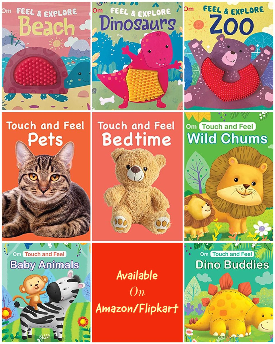 An interactive playbook features bright pictures with different textures to touch and feel. These textures and beautiful pictures will encourage the child to learn more about the objects through the senses of sight and touch.  Online Store -amzn.to/3atLISe https://t.co/82gDwWuSh2