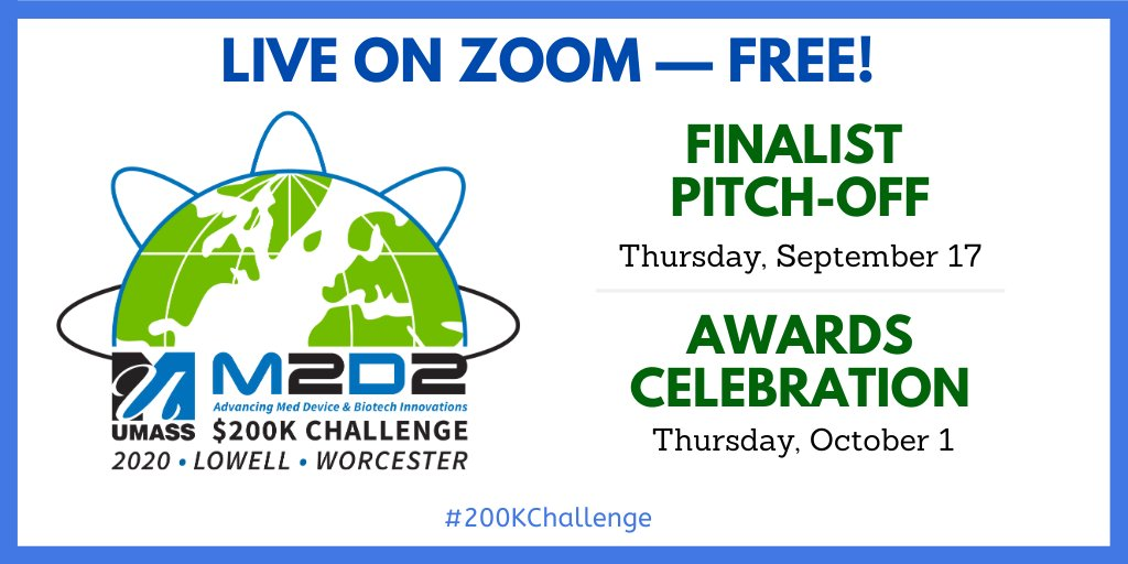 It's back. It's virtual. It's #FREE. It's the M2D2 #200KChallenge! On 9/17, hear 15 #lifesciences innovators pitch for a share of $200K in sponsor-provided resources. Join us: https://t.co/BN4wQFMXFF   #biotech #medtech #medicaldevice @BARDA https://t.co/hI962hoiaQ