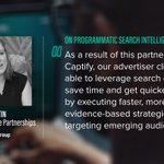 Amanda Martin, VP of Enterprise Partnerships at @goodwaygroup discusses the results their clients have been experiencing using @Captify's new product, Programmatic Search Intelligence (PSI). Check out how it works here https://t.co/5JCOGuc76z #Programmatic #Digital @amandaemartin