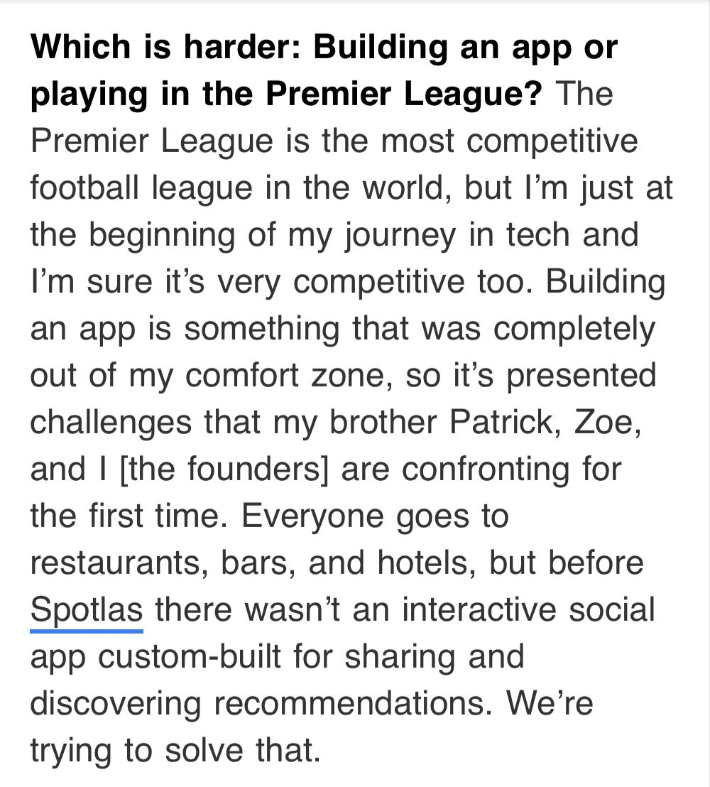 Everyone go check out the app @ericdier developed with his brother called @spotlas https://t.co/coou0V0KrQ