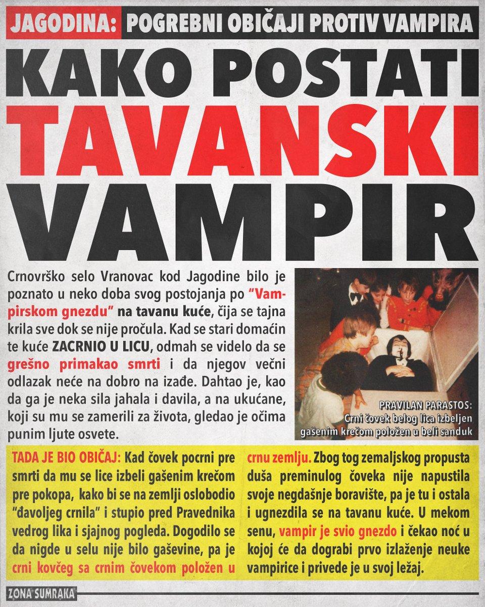 POGREBNI OBIČAJI JAGODINE: Kako postati tavanski vampir