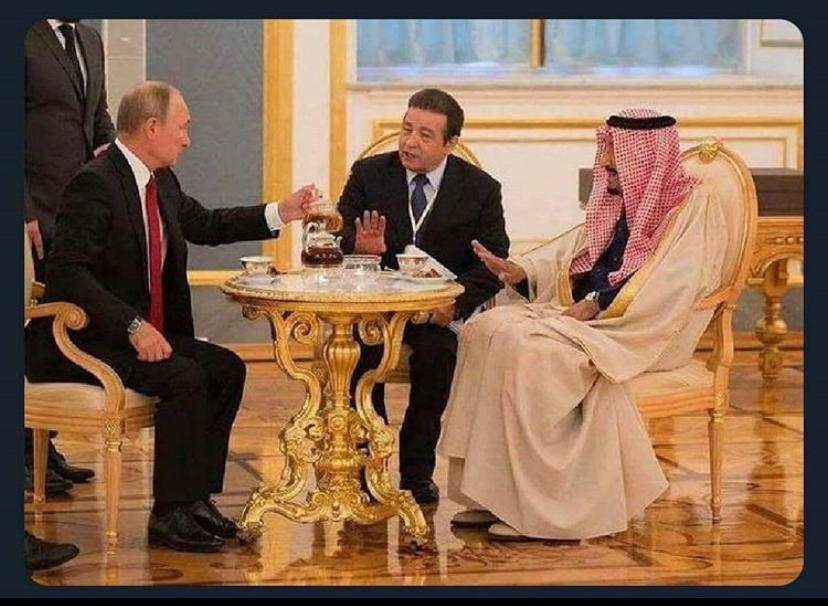 Always be careful if Putin offers you some tea...