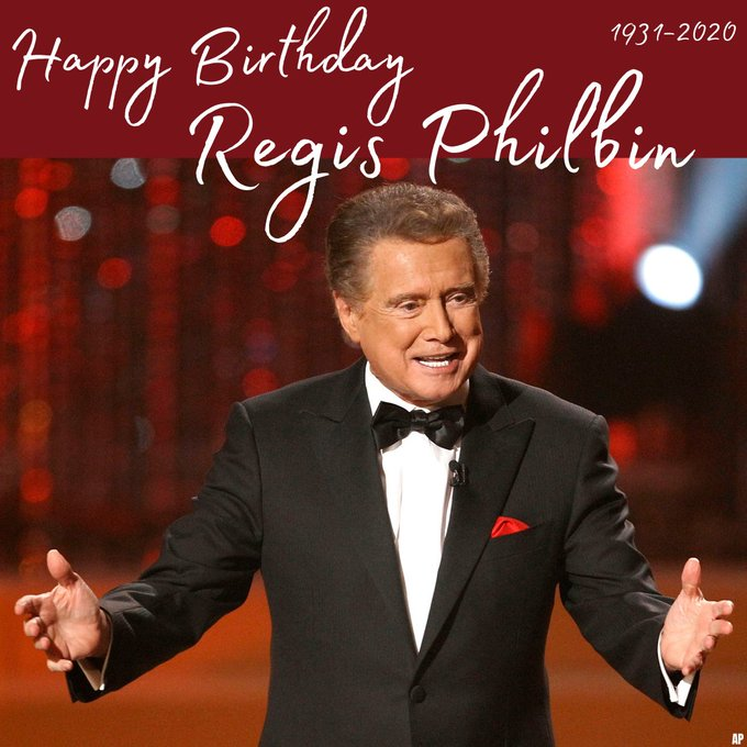 Happy Birthday to Regis Philbin, who died last month at 88 years old.