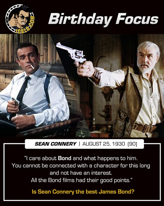 Happy 90th birthday to the great Sean Connery!