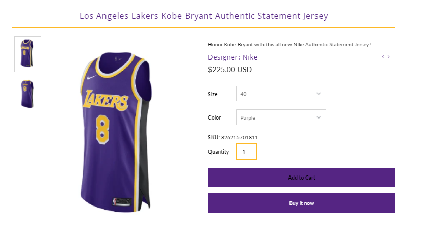Solefed On Twitter Los Angeles Lakers Kobe Bryant Authentic Statement Jersey Https T Co Lyoxmkpsrz Ad