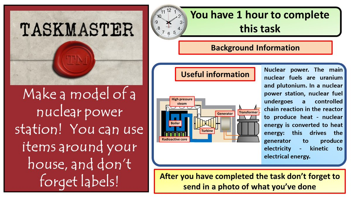 During lock down I've watched far too much taskmaster.  Here's a task for students to have a go at  #ukedchat #aussieED #TeamScience #homeschooling #edutwitter #hometasking https://t.co/vTHiDb9lPZ