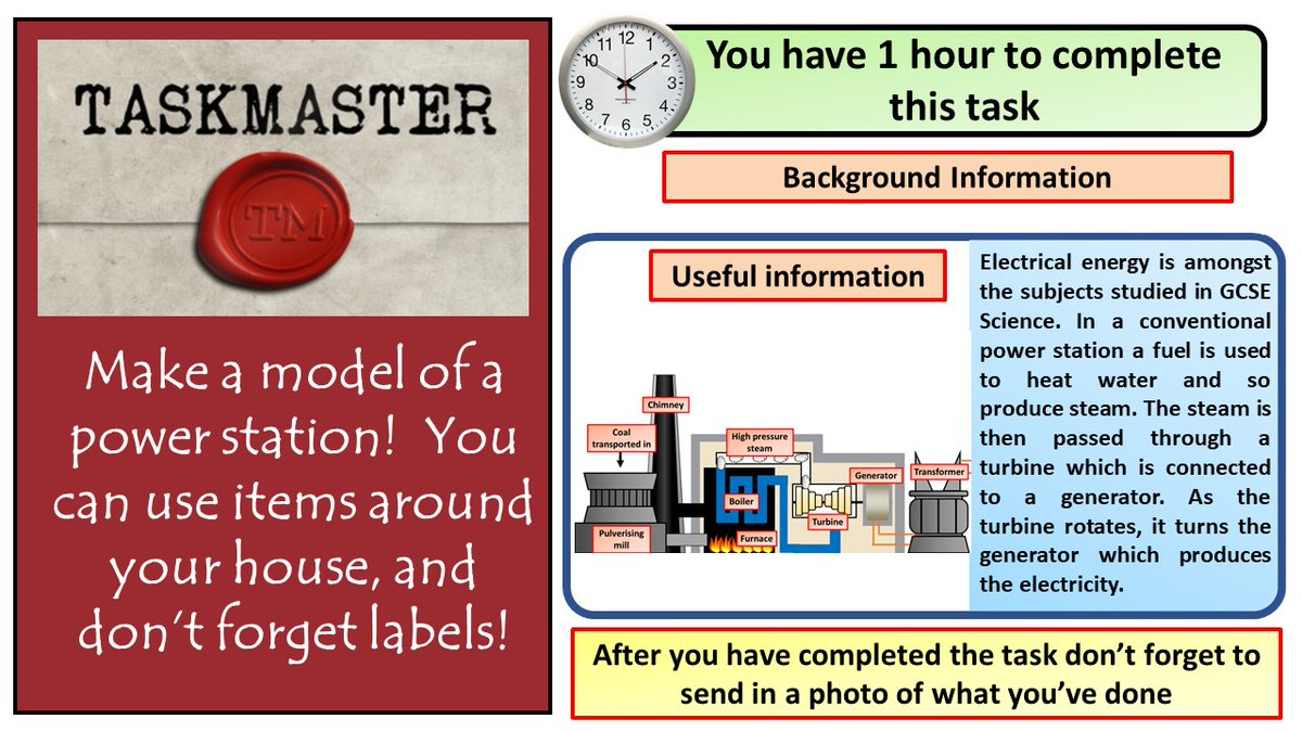 During lock down I've watched far too much taskmaster.  Here's a task for students to have a go at  #ukedchat #aussieED #TeamScience #homeschooling #edutwitter #hometasking https://t.co/RYpoZ0i0Uc