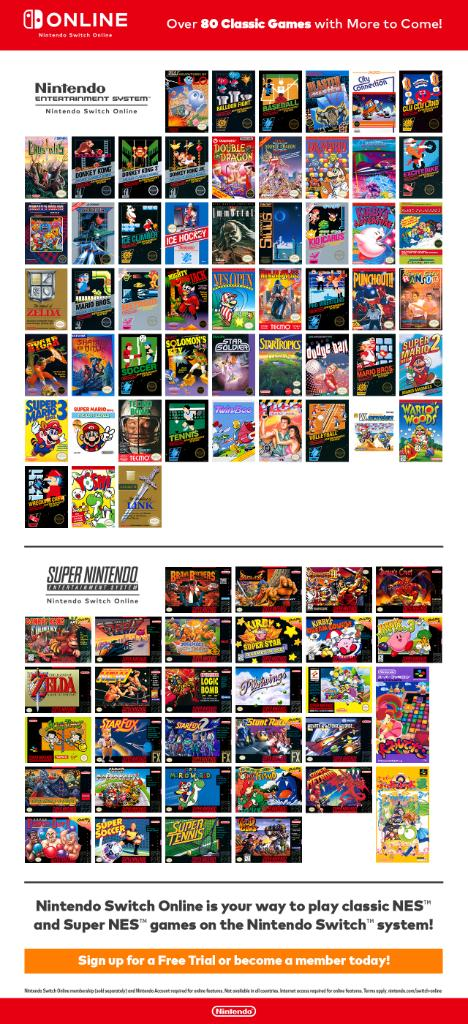 Nintendo Of America On Twitter Nintendoswitchonline Members Now Have Access To Over 80 Classics With The Nes Snes Nintendo Switch Online Collections Of Games Become A Member Or Start A