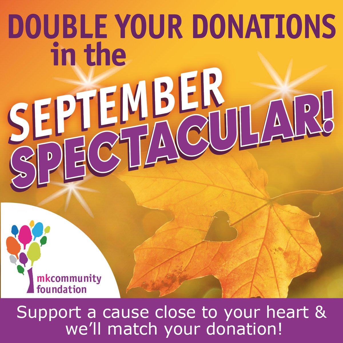 September Spectacular launches on Tuesday & you have the chance for your donations to be doubled by us to community groups who have signed up including: 5th Impact, @alspalsmk Scot Bowls Club and @harrysrainbow Keep an eye on our social media for more! https://t.co/6GGqFwBlih https://t.co/y87DBANba3