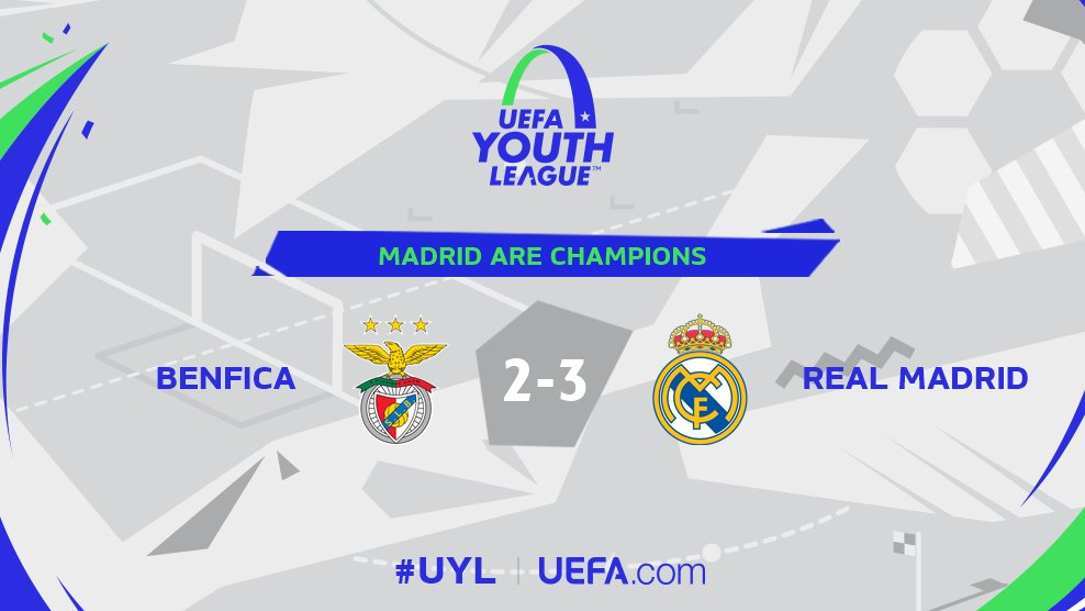🏆 Real Madrid are #UYL champions for the first time! 🎉🎉🎉 https://t.co/Ajx5v2ukcx
