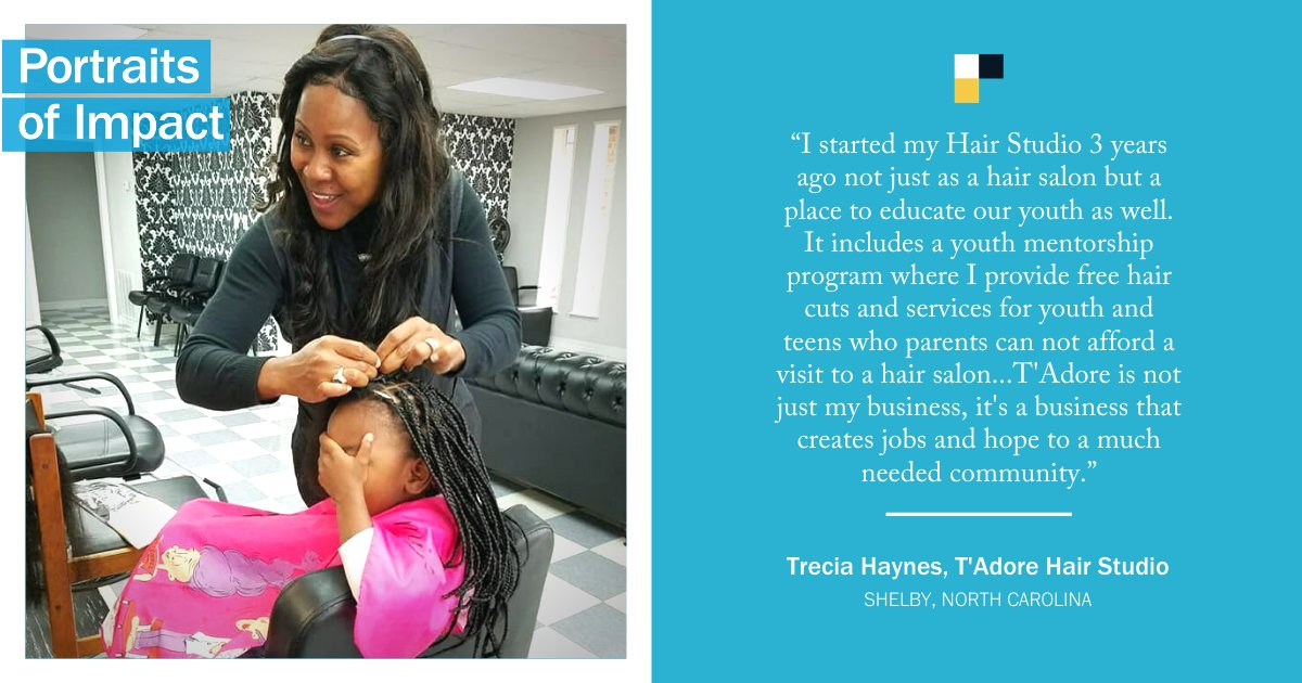 We're excited to start our #PortraitsOfImpact series featuring Rural #SmallBizRecovery grantees like Trecia Haynes.  If you're a small business owner, get more opportunities here:   Thanks everyone who joined @Verizon's #PayItForwardLIVE for your support!