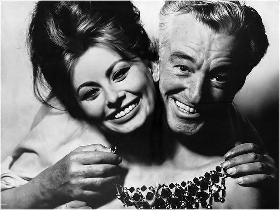 "Distracted Film on Twitter: ""SMILEY FACE: Sophia Loren and Vittorio De  Sica.… """