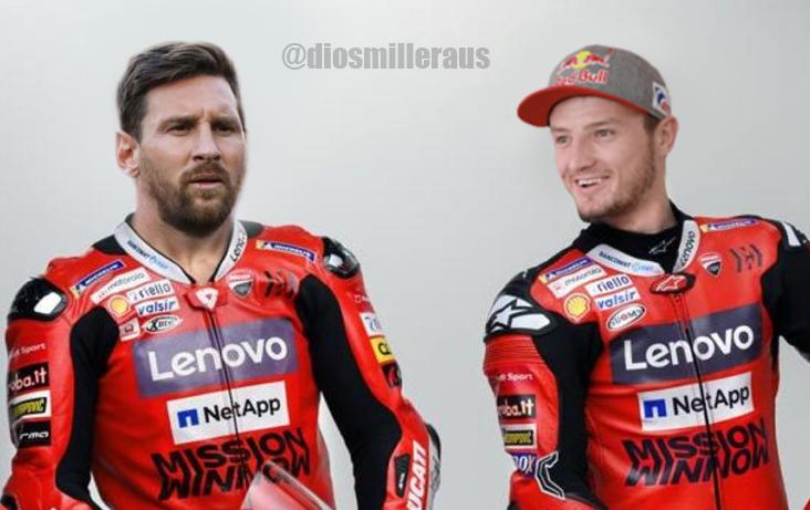⚠ BREAKING: Lionel Messi joins Jack Miller at Ducati for the 2021 MotoGP season. #BienvenidoLeo #VivaMiller 🔴⚫ https://t.co/D3VaVz3Ppi