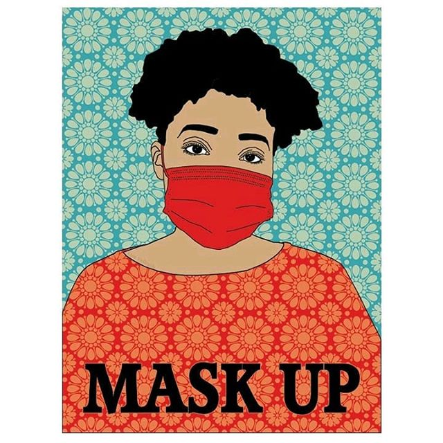 More than a fashion statement. 💅 More than a healthy habit.⚕️  Wearing a mask is how we can show up for the people we love ❤️ our community and the world. 🌎  Slow the spread, #WearAMask!  🎨 by @lisavollrath https://t.co/BjxO3vLo2K
