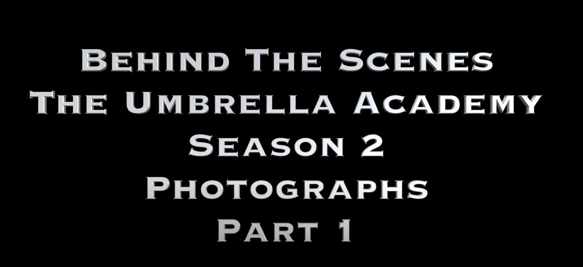 Behind The Scenes - The Umbrella Academy - Season 2 - Photographs - Part 1 youtube.com/watch?v=6359pd…