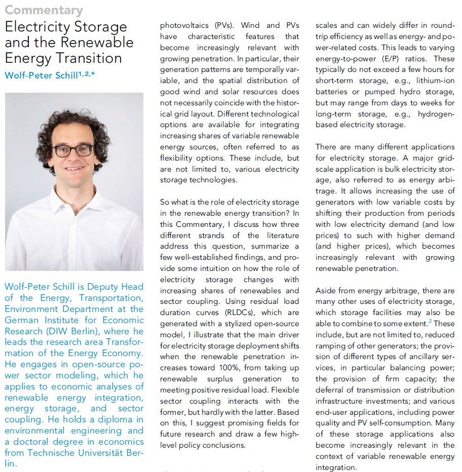 1/ Hi  #energytwitter, I'm excited to share my thoughts on the changing role of  #electricity  #storage in the  #renewable  #energy transition in my new  @Joule_CP Commentary!  @CellPressNews  https://doi.org/10.1016/j.joule.2020.07.022A little thread