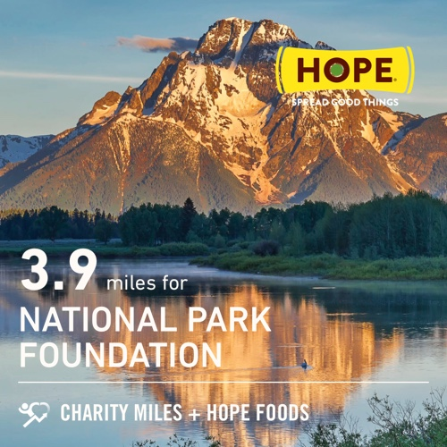 On #NationalParksDay 3.9 @CharityMiles at work  for @goparks. Thx @HopeHummus for sponsoring me! #SpreadHope  EveryMileMatters