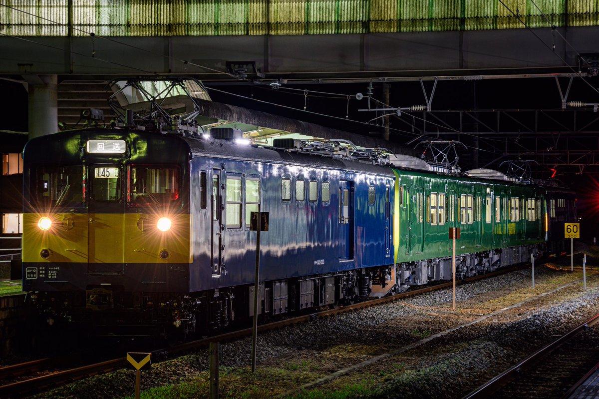 回7777M 115系R1編成+クモヤサンド 山あいの駅にこだまする国鉄モーターサウンドに包まれながら濃密な時間が過ぎて行きました。 お誘いいただいたいただいた@dEROero10 さんありがとうございました。 https://t.co/M5H3jtuIal