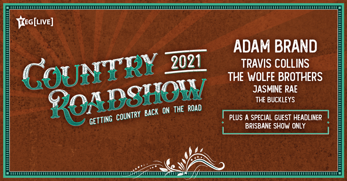 ON SALE 🤠 Country Roadshow is a jam-packed country experience bringing together @adambrand, @TravisCollins01, @Wolfe_Brothers, @jasminerae & The Buckleys with a special Guest Headliner appearing in Brisbane Only. Tickets on sale 10am today (local time) 🎟 https://t.co/jXJwbI7oZz https://t.co/s6udxkHIqN