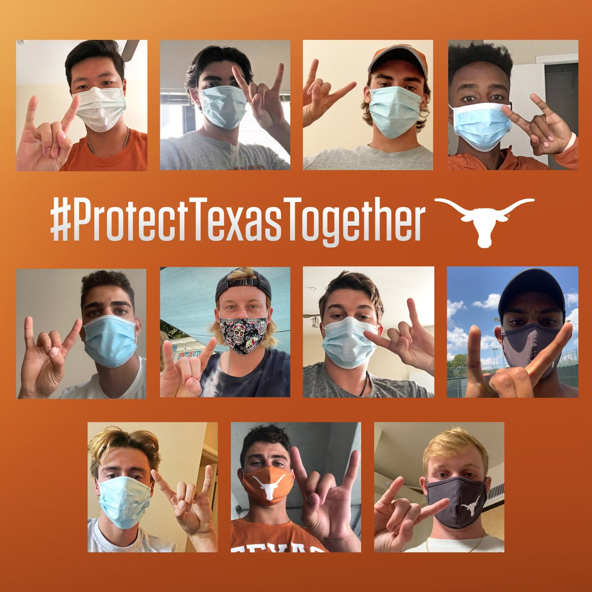 Longhorn Nation – we need you! Let's #ProtectTexasTogether 😷 🤘🎾
