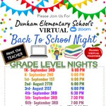 Image for the Tweet beginning: Back To School Nights