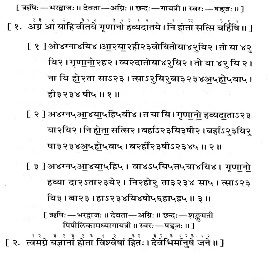These days we people sing Bhajans, people then used to Sing Sāma matras, but unlike Bhajans Ved mantras when sung takes a person to a much higher spiritual level. Image- The different methods of Sunging if Sāma Veda