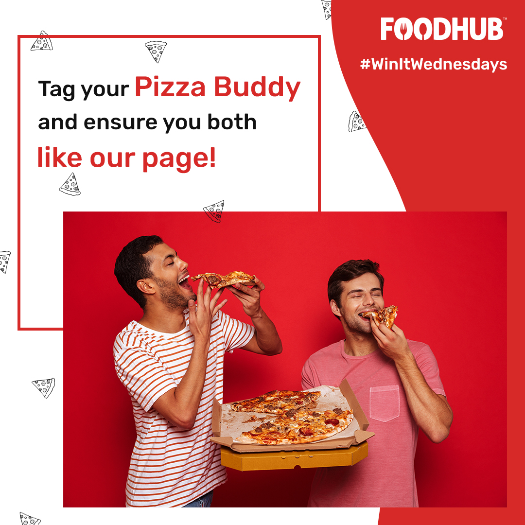 Hi Pizza lovers. 🍕😍 3 lucky winners will win FREE FOOD vouchers from us for them and their friend.   Steps :  1) Tag a friend who you love to eat pizza with    2) Make sure you and your friend follow our twitter handle       #PizzaLovers #PizzaBuddies #Foodies #Foodhub https://t.co/MKhcVaUqWy