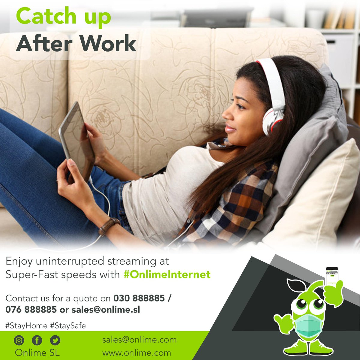 If you are an employee, you will probably need internet to catch up with your favorite shows online after work. Enjoy uninterrupted streaming at Super-Fast Speeds with #OnlimeInternet Call 076 888885 / 030 888885 or email sales@onlime.sl for more info. #SierraLeone #Freetown https://t.co/p2QR7Ab21m