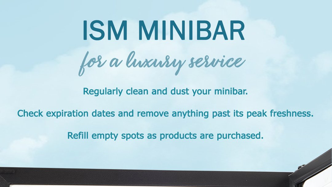 Regularly clean and dust your minibar.  Check expiration dates and remove anything past its peak freshness.  Refill empty spots as products are purchased.  #hotels #hotelequipment #hotelminibar https://t.co/toLF6WSrNA
