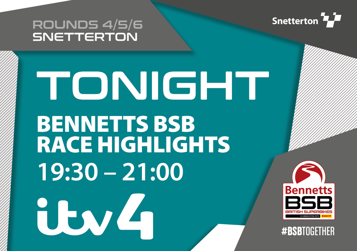 Want to relive some more highlights from @SnettertonMSV?  Tune in tonight on @ITV4 for the @ITVSport programme from #SnettertonBSB https://t.co/TCPfPaZXO6