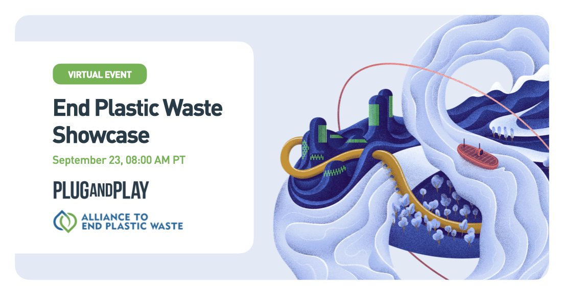 20+ startups have participated in our #EndPlasticWaste innovation programs in Silicon Valley, Paris & Singapore, in partnership with @EndPlasticWaste.   Join us as we present the results, plus announce new partnerships & investments 👉 https://t.co/Wu2Hlq5igS https://t.co/aYeu3kdu5Q