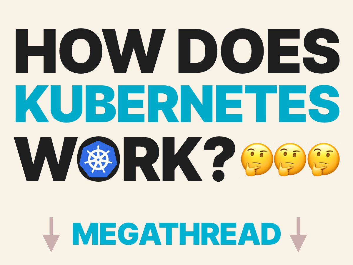 MEGATHREAD Learn Kubernetes one Twitter thread at the time! Below you can find a collection of threads about Kubernetes and Kubernetes-related tech! I regularly add more, so you can follow me or @learnk8s for more updates!
