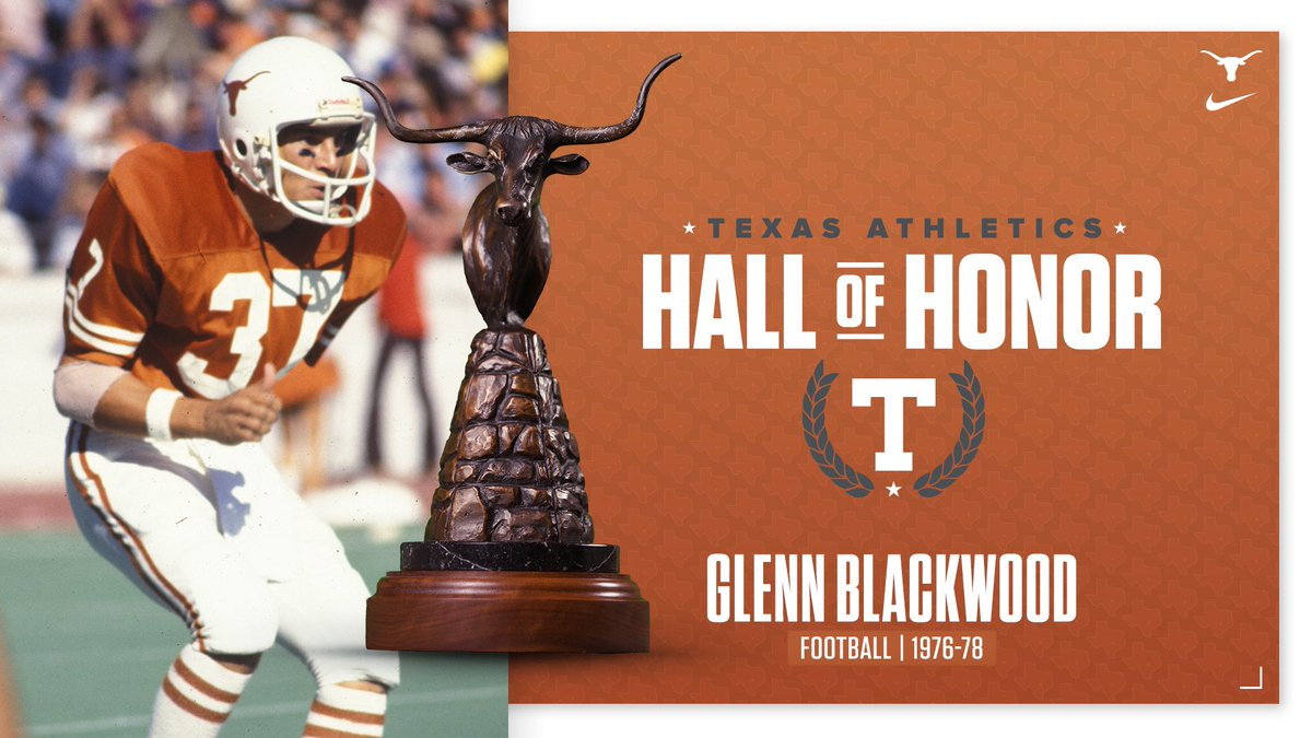 @txtassociation Congratulations to Glenn Blackwood, Jamaal Charles, Jordan Shipley and David Thomas on their induction into the Texas Athletics Hall of Honor!  #ThisIsTexas #HookEm https://t.co/5J85xs4X9x
