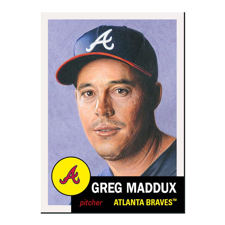 New week of the #ToppsLivingSet!  #341 Greg Maddux, Atlanta Braves (HOF) #342 Matt Thaiss, Los Angeles Angels (RC) https://t.co/ENqxJbXC4R