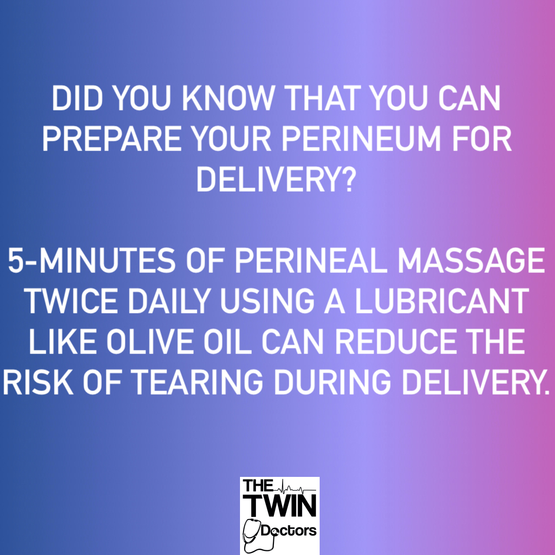 Perineal massage in the 3rd trimester reduces tears of the vagina/perineum during delivery. Pregnant? https://t.co/Fx5Cq6keW3   #TheTwinDoctors #TheTwinDocs #TwinDoctorsTV #TwinDocsTravel #EverythingPregnancy #Pregnant #Pregnancy #Expecting #WhatToExpect https://t.co/y1r7u3ikvU