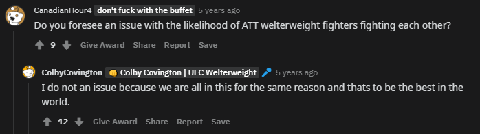 Back in 2014 Colby Covington did an 'Ask me anything' on reddit, here are some of the highlights from it: https://t.co/uEG3IdWmLZ