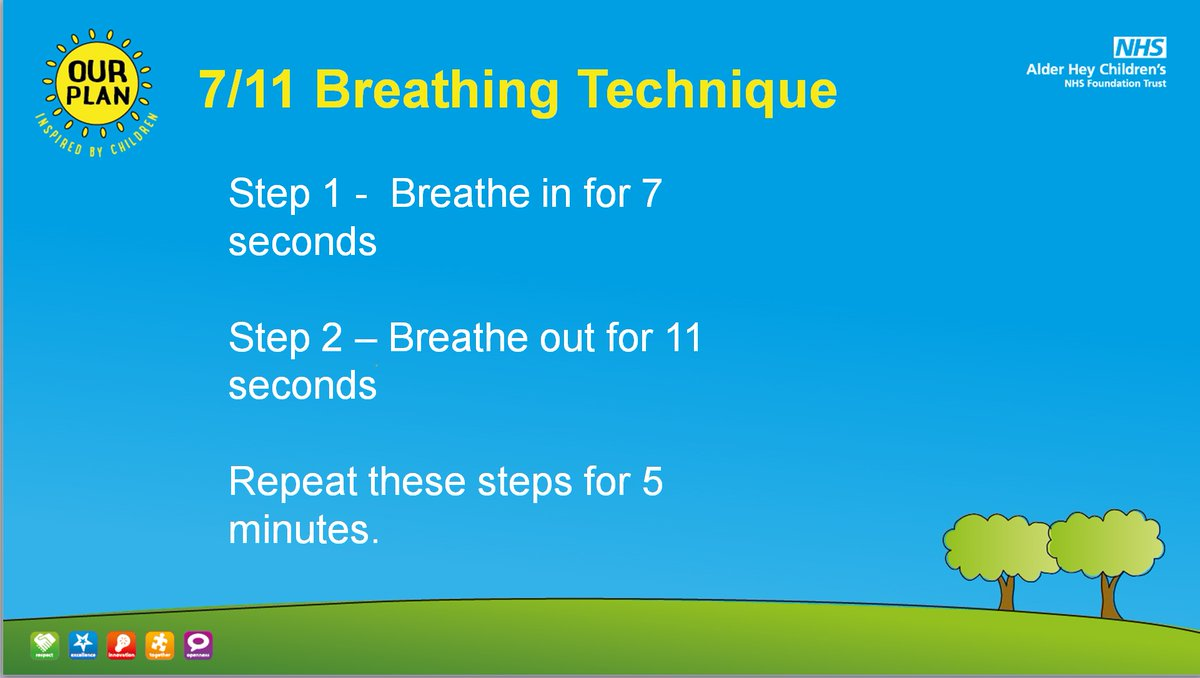 If you're struggling with #anxiety, the 7/11 breathing technique 🗣️💨 is a really good way to help you relax quickly 😌 Give it a try and see if you notice a difference! #WellbeingWednesday #WellnessWednesday