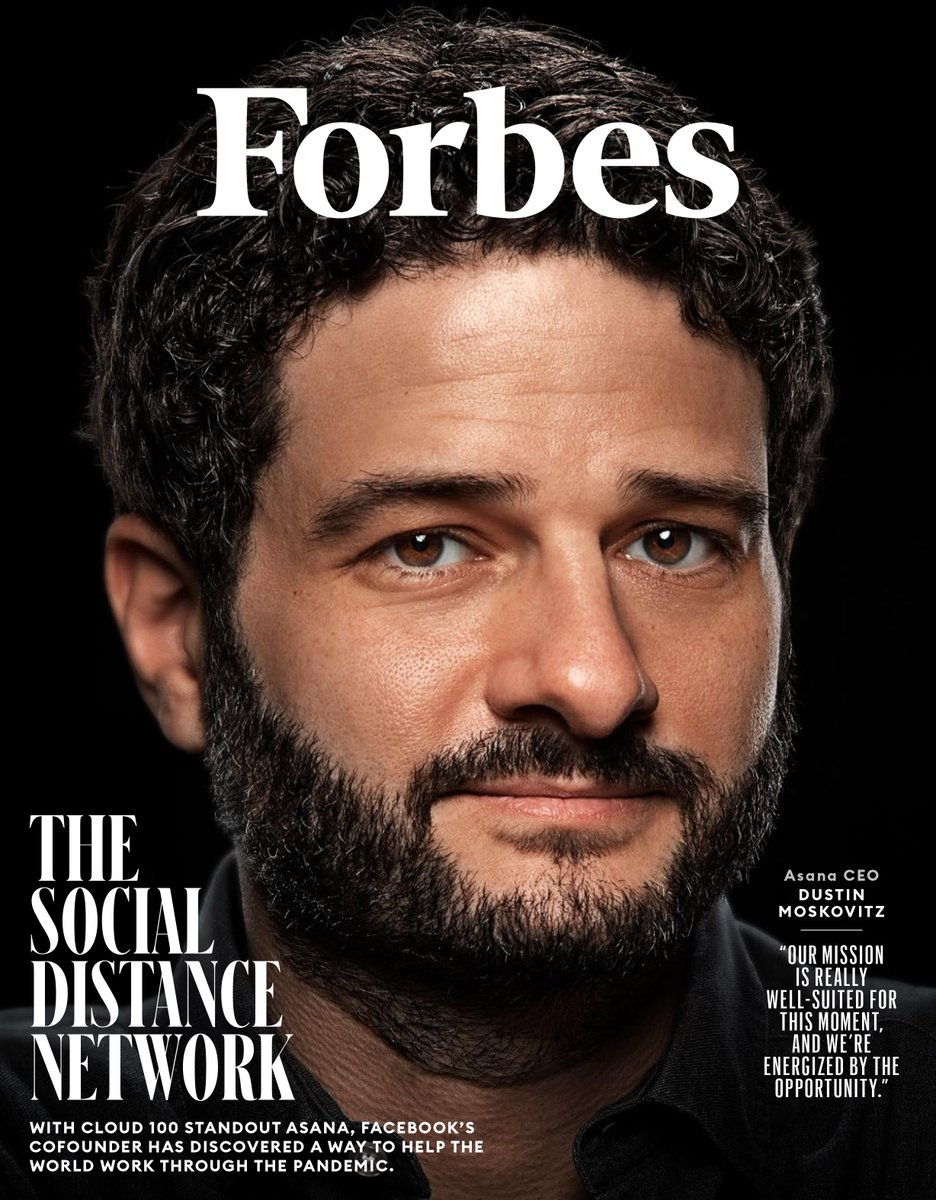 As the cofounder of Facebook, Dustin Moskovitz learned how to move fast and break things first-hand. At his work software startup Asana, hes taking a very different approach. My cover story takes you inside the soon-to-be-public Cloud 100 standout. forbes.com/sites/alexkonr…