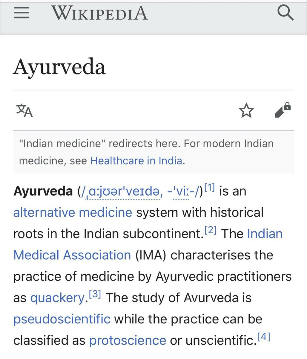 @jimmy_wales So #Ayurveda is Quackery? And you want Indians to donate to #Wikipedia. https://t.co/PfJE9f1vik