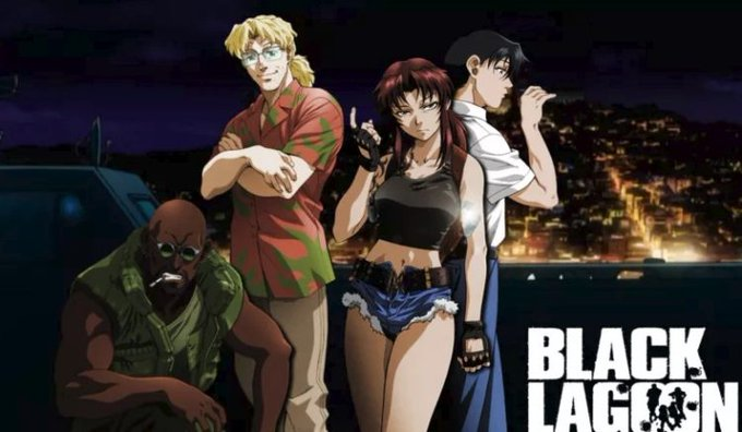 My 3 fav anime with or about guns/military.ブラック・ラグーン (Black