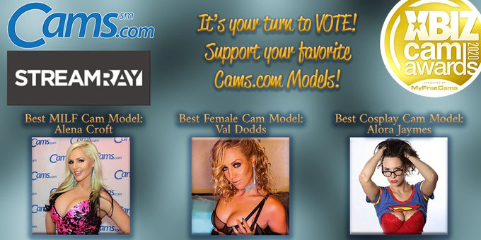 ❤️🏆Today is your LAST DAY to VOTE for the @XBIZ #XbizCamAwards! ❤️🏆 Go to https://t.co/o3a3vAS55K and