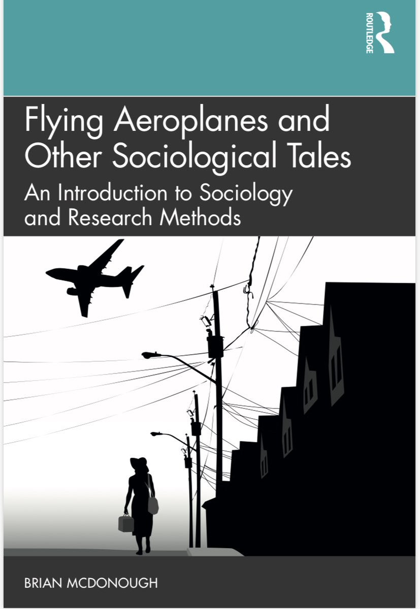 This is the book cover (preview) of my new sociology textbook! 😊😊😊 routledge.com/Flying-Aeropla…