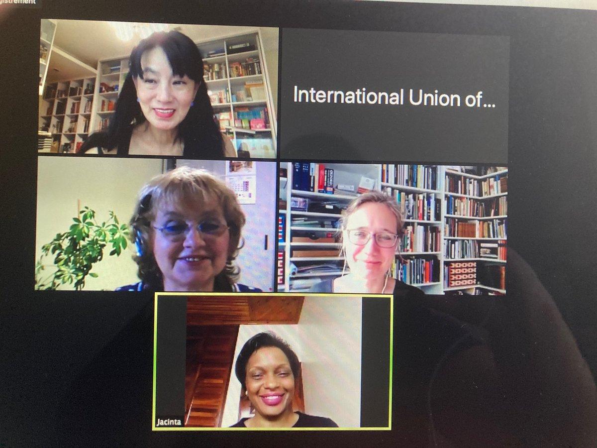 The New UIA Committee for International Women in #Architecture meets to discuss action plan. Istelianna Atanassova (Bulgaria), @NMossin(Denmark), Rim Safar Sakkal (Bolivia), Pei Ing Tan (Malaysia) and Jacinta Kabarungi (Uganda). #WomenSupportingWomen #womenempowerment https://t.co/8fFU6u3NhO