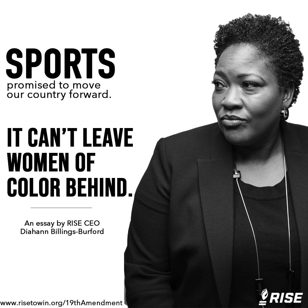 Sports promised to take the lead in ending injustice and moving our country forward. But it can't leave women of color behind.  On #WomensEqualityDay and 100 years after the #19thAmendment, Black women are at risk of being marginalized again. From our CEO: https://t.co/S6hxAhDsCv https://t.co/2PRgBBmeC5